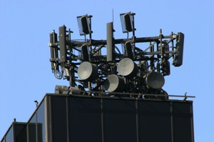 Antennas on roof