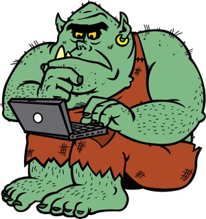 Troll and laptop