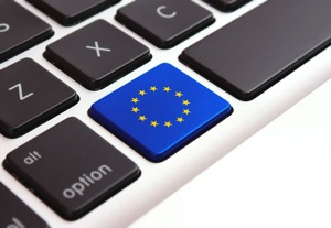 EU flag on keyboard