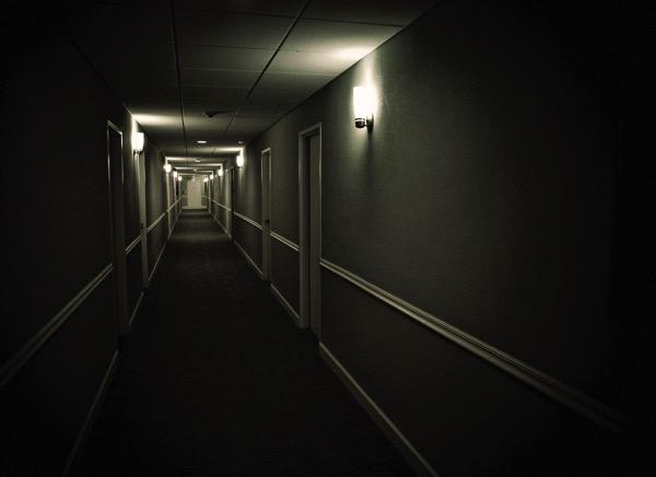 Dark Hotel hall