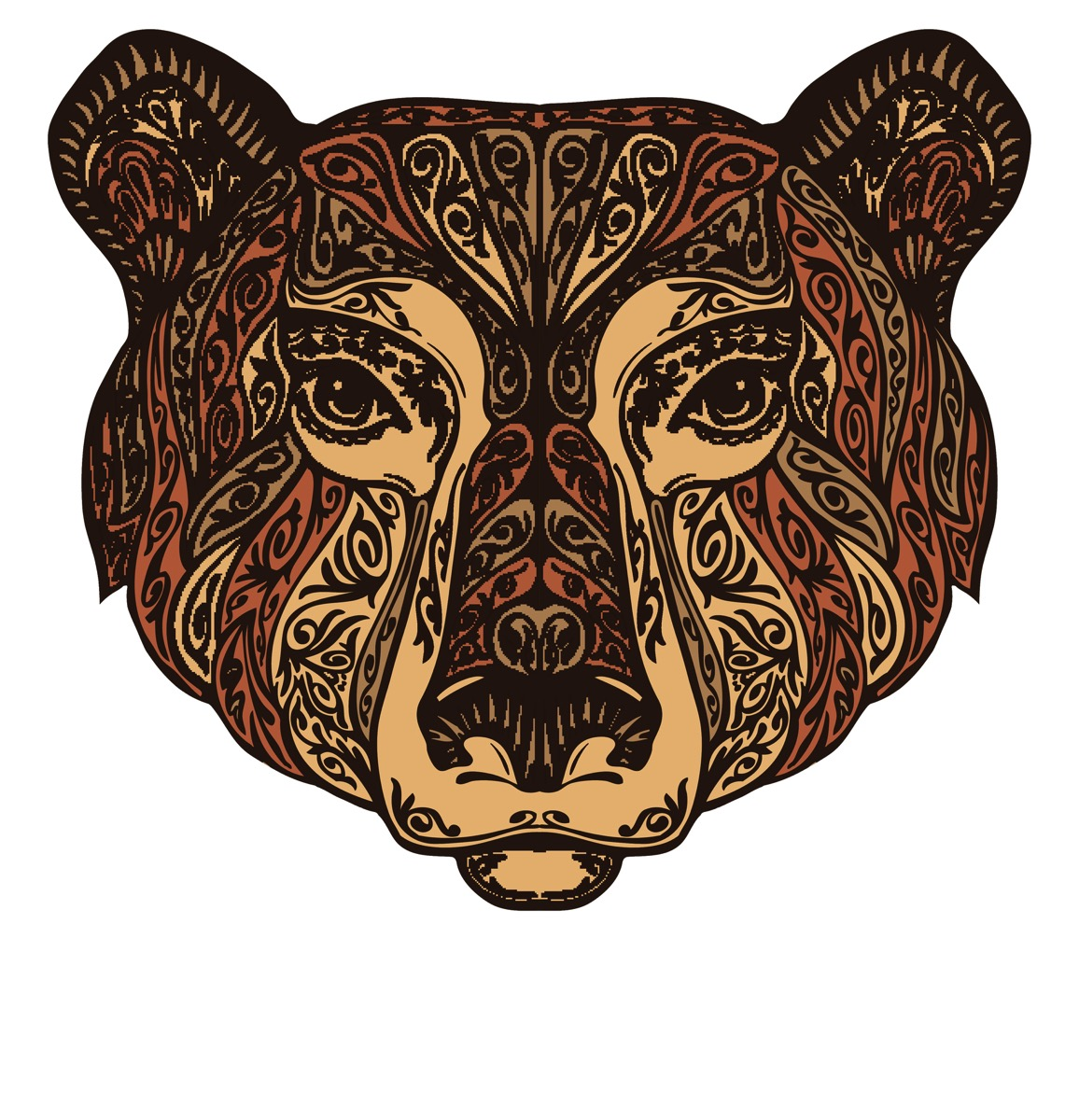 Bear fancy pattern