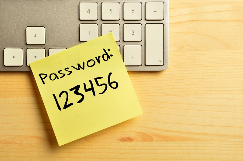 Password sticky 123456