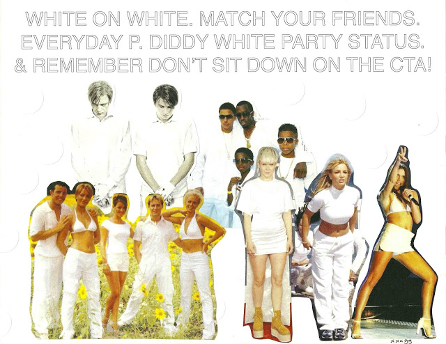 """Steps """"One For Sorrow"""" Music Video /  Funny Game  U.S. movie poster / Robyn @ the 2013 Grammy Awards / P. Diddy & Crew @ his 2007 White Party / Britney Spears """"Sometimes"""" Music Video / Posh Spice @ the 1997 Brit Awards"""