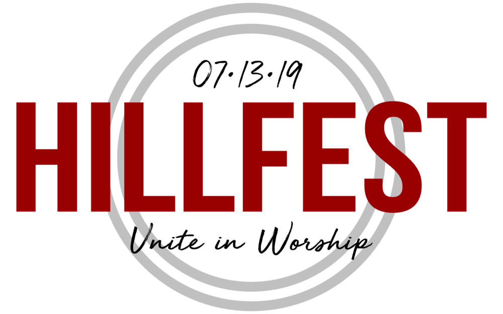 hillfest logo 2019_black rings with black date_Unite in Worship.png