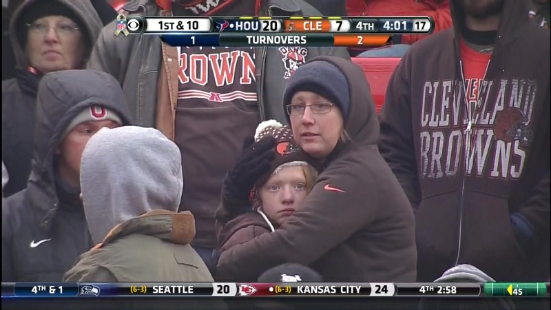 The facial expression that only a Cleveland fan can recognize. (CBS)