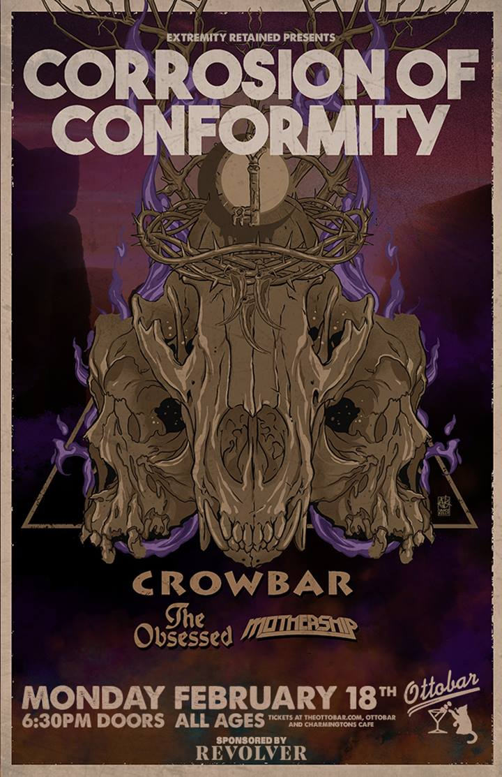 Corrosion Of Conformity, Crowbar, The Obsessed, and Mothership