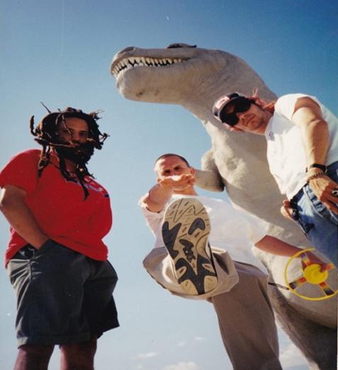 Members of Combine circa 1996, Xavier Darryl Lewis-bass, John Corbitt-drums, Buck Down-guitar and vocals.