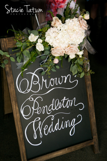 Wedding welcome chalk board