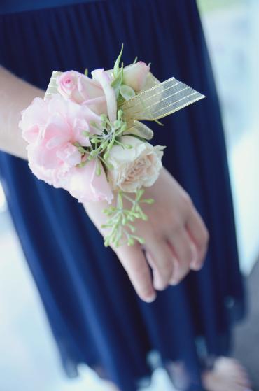 Pink Lisianthus Wrist Corsage