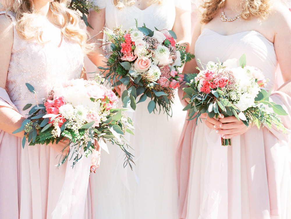 Blush wedding, pink flowers