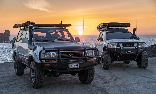 Happy Friday 🤙 Pick up the newest issue of @tread_magazine to check out the feature on this awesome 80 series owned by @overlandwithus . Another great article written by Bryon of @explorelements . . . #frontendfriday #80series #landcruiser #treadmagazine #lexuslx470 #magazinefeature #toyotalandcruiser #overlanding #overland #xterra #nissanxterra #baja #bajacalifornia #labufadora #forgeoverland #expeditionportal #overlandjournal #sonyalpha #neverstopexploring #builtnotbought #lifeofadventure #adventurethroughpixels #oceansunset #beachcamping #borntoroam #goosegear #goosegearequipped