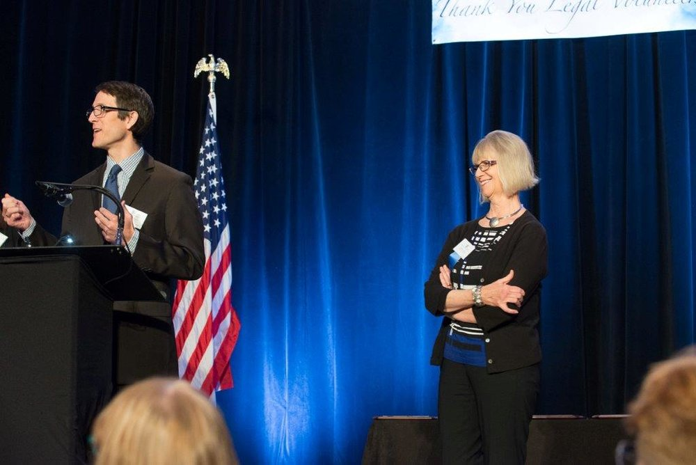 Linda Olson accepts her Special Recognition Award from Tim Macdonald (Photo courtesy of Hartmannphoto).jpg
