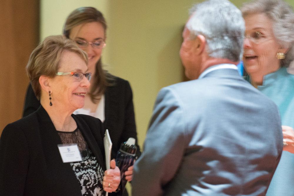 H10 Board Chair Nancy Elkind, Richard Westfall and Executive Director Connie Talmage (Photo courtesy of Hartmannphoto, LLC).jpg