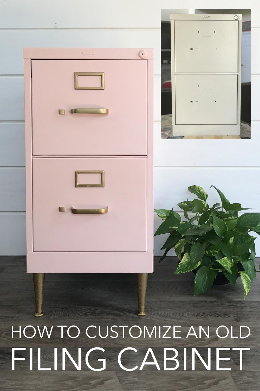 painted metal | painted filing cabinet | diy chalk paint | diy office furniture