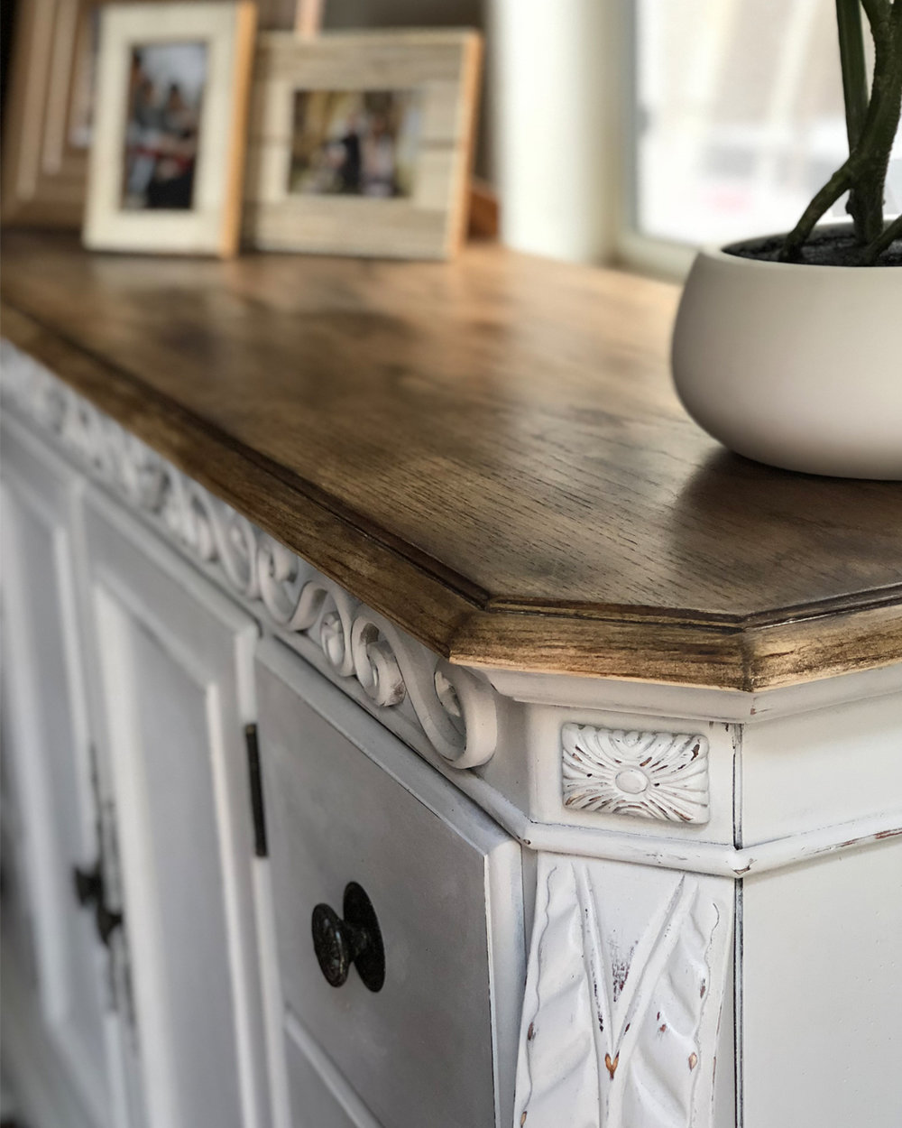 how to paint a vintage buffet, painted dresser, how to chalk paint furniture, DIY chalk paint, chalk paint furniture makeover project, chalk paint, repurposed furniture, furniture makeover inspiration, how to strip and refinish furniture, dark finishing wax, the best way to paint furniture