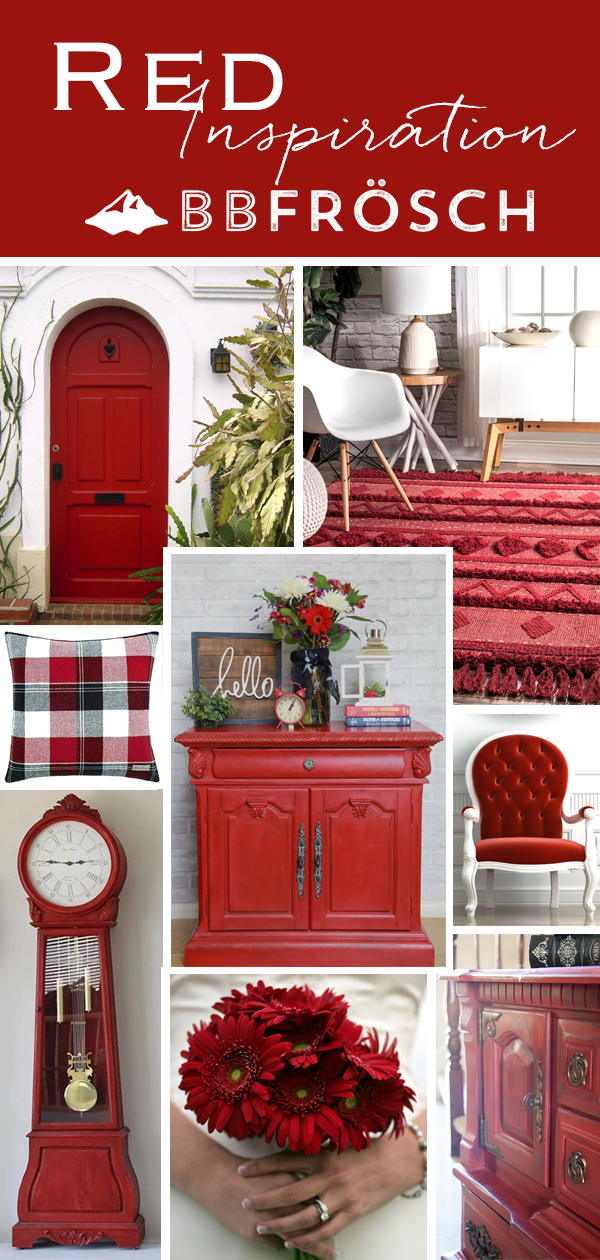red chalk paint | red furniture | diy chalk paint | furniture redo | red color inspiration | do it yourself furniture makeover | how to pick the perfect color | how to paint furniture | chalk painted furniture