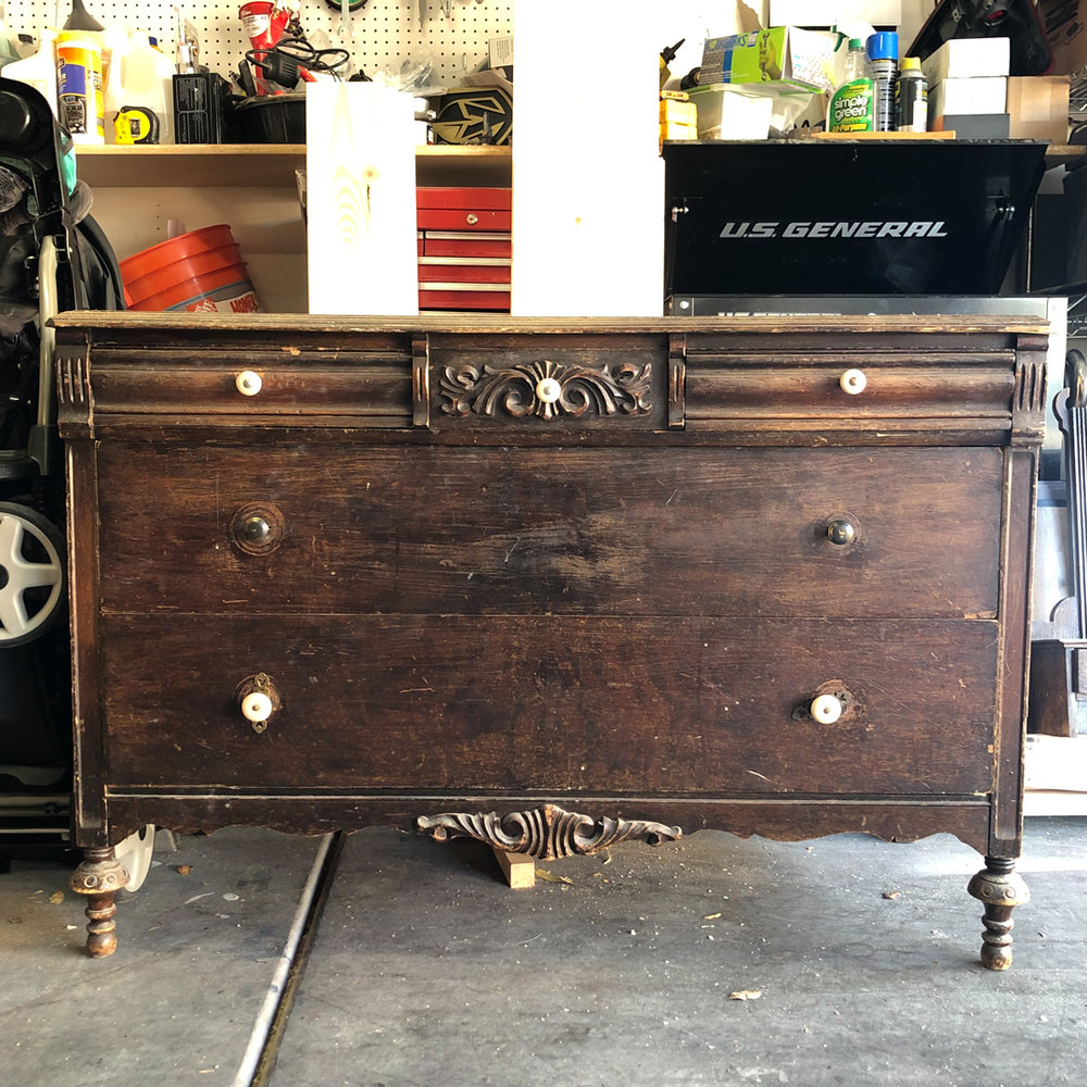 do it yourself furniture repair, diy chalk paint, how to repair veneer, antique furniture makeover, furniture redo, furniture makeover, DIY at home project, before and after, before and after chalk painted furniture, farmhouse furniture, refurbished furniture, furniture flip, furniture restoration