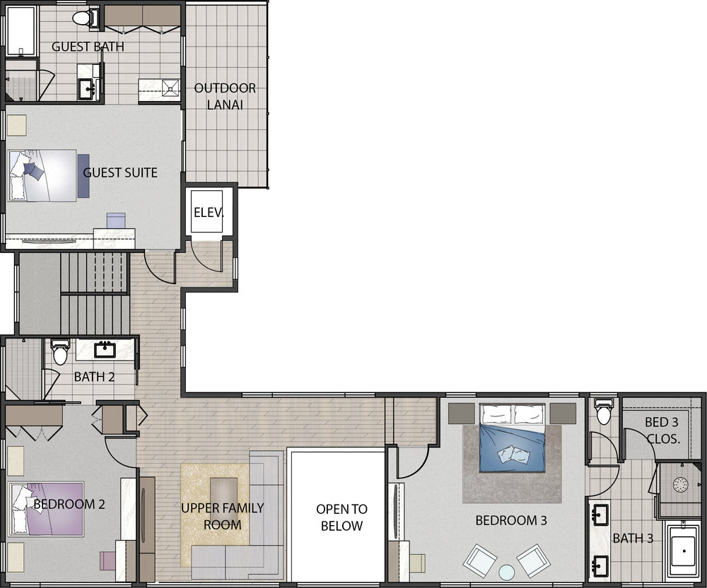 506 Hakaka Place Upper Level Floorplan