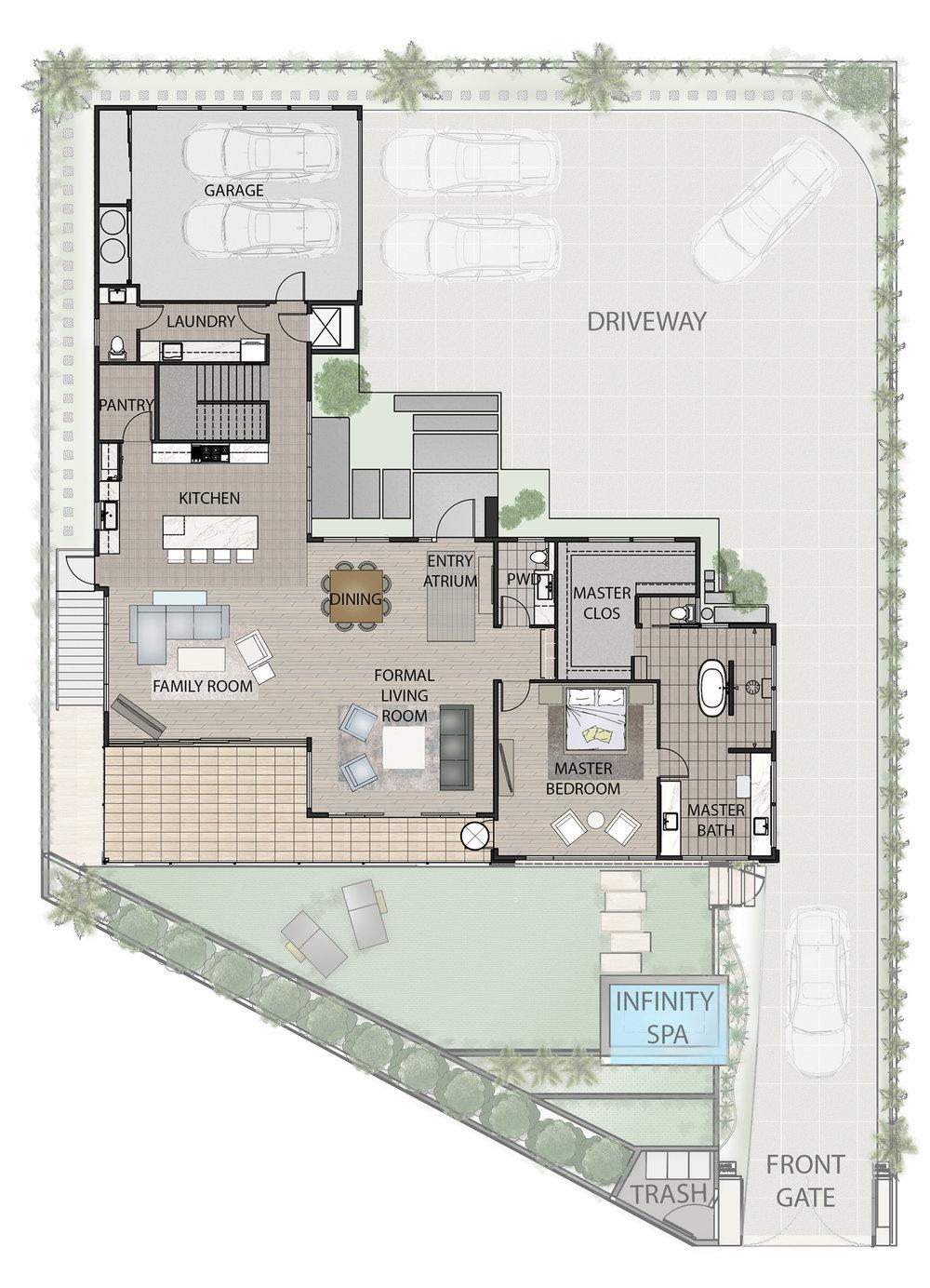 506 Hakaka Place Main Level Floorplan