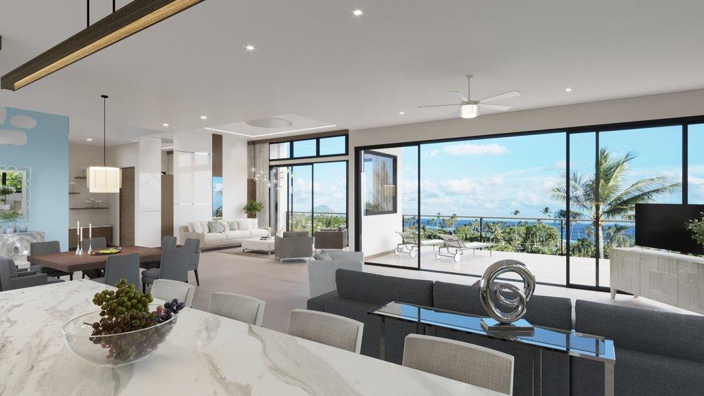 MAIN LEVEL: Kitchen - Family Rom - Dining - Formal Living Room