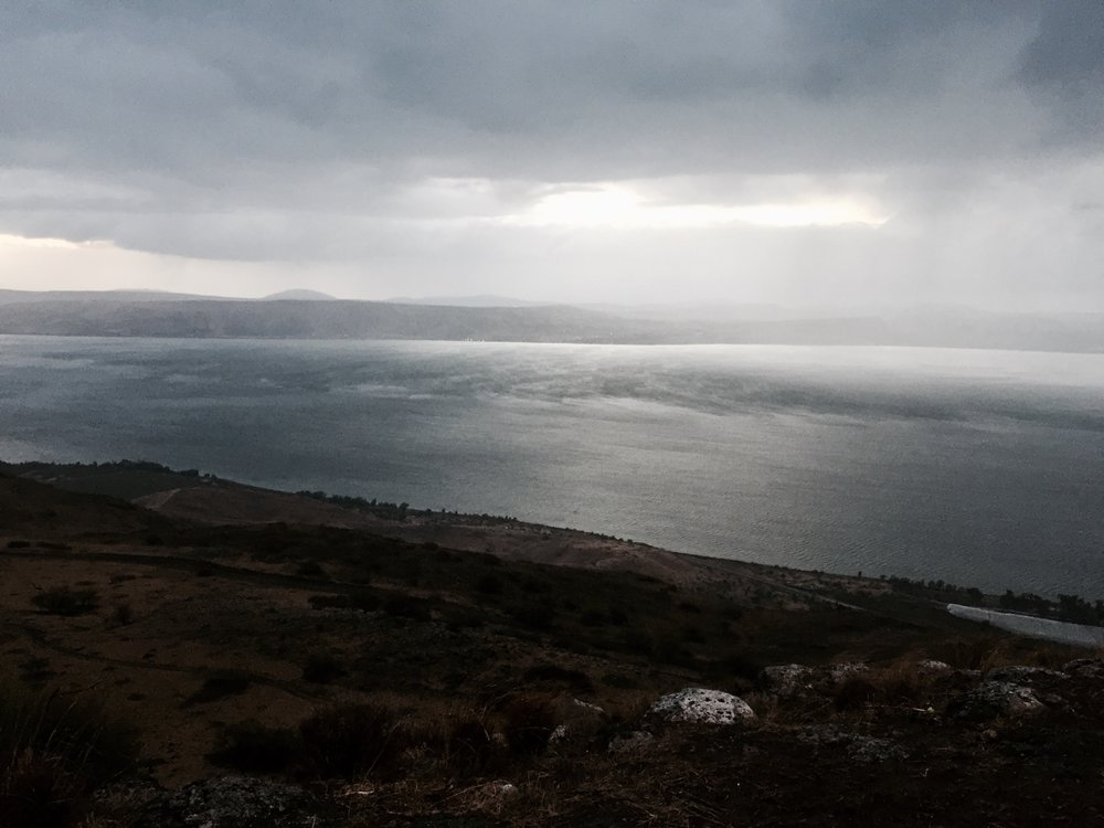 A storm on the Sea of Galilee - taken in December of 2016.