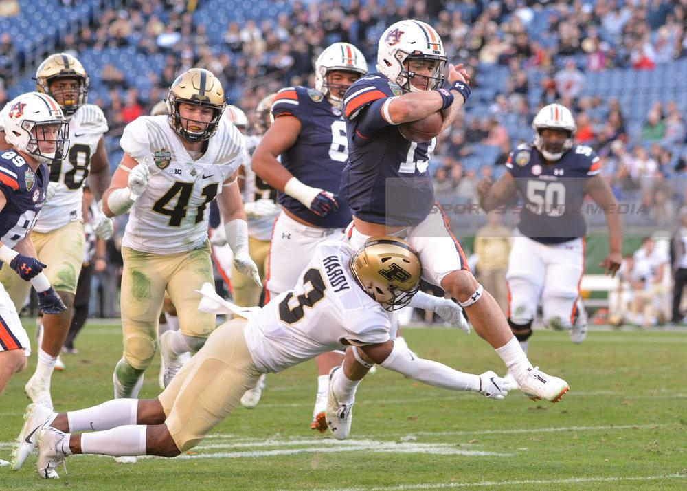 DEC 28; Music City Bowl: Auburn dominates Purdue. Win 63-14.