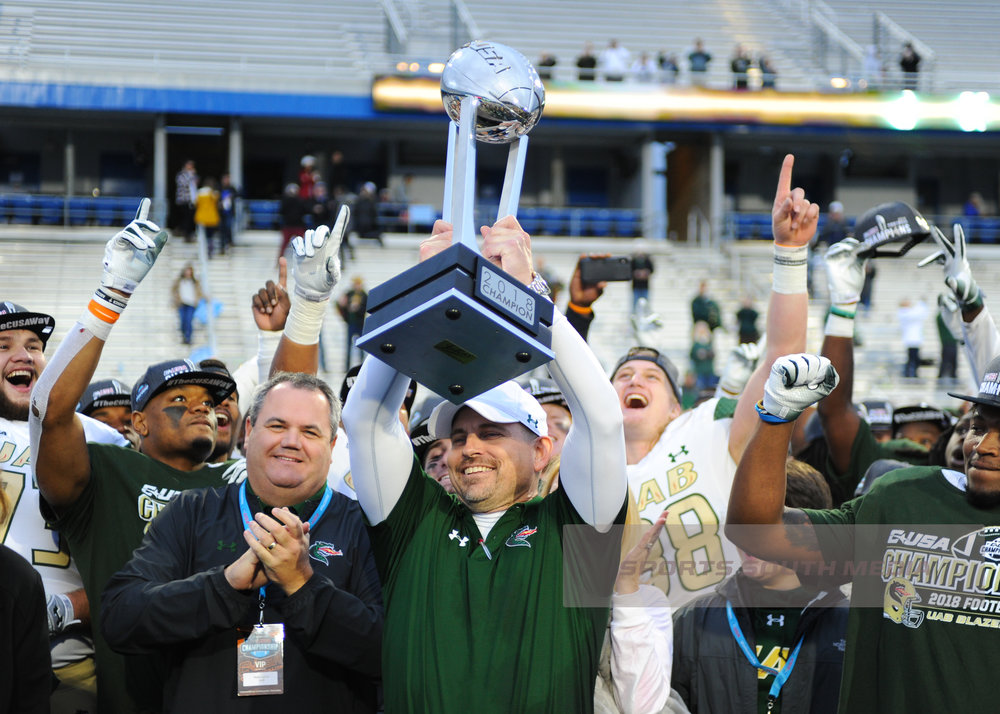 DEC 1; C-USA Championship: UAB defeats Middle Tennessee, 27-25