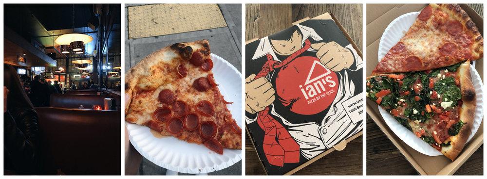 Left (2): Big Mario's Pizza, Right (2): Ian's Pizza by the Slice