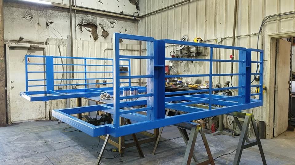 Custom livestock fabrication project