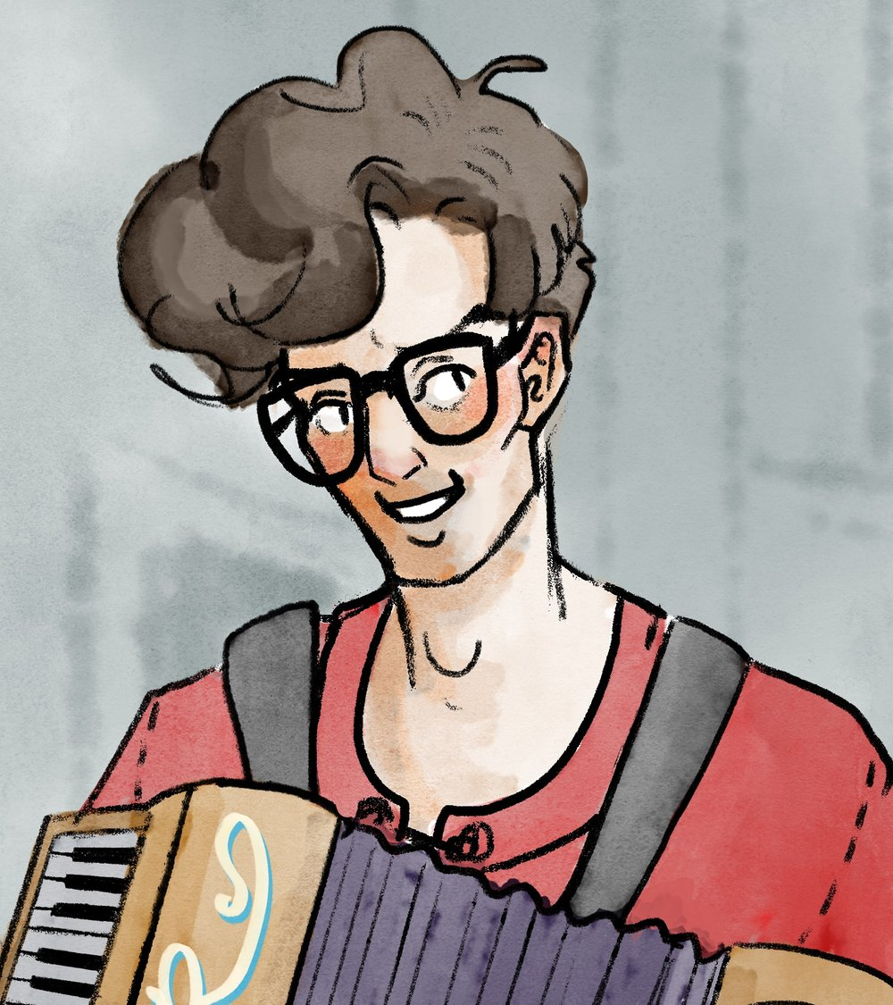 Digital painting of Bernan Leadsetter