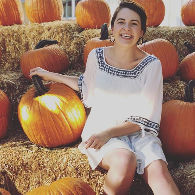 You can find me in between two pumpkins and a PSL for the rest of the season 💛