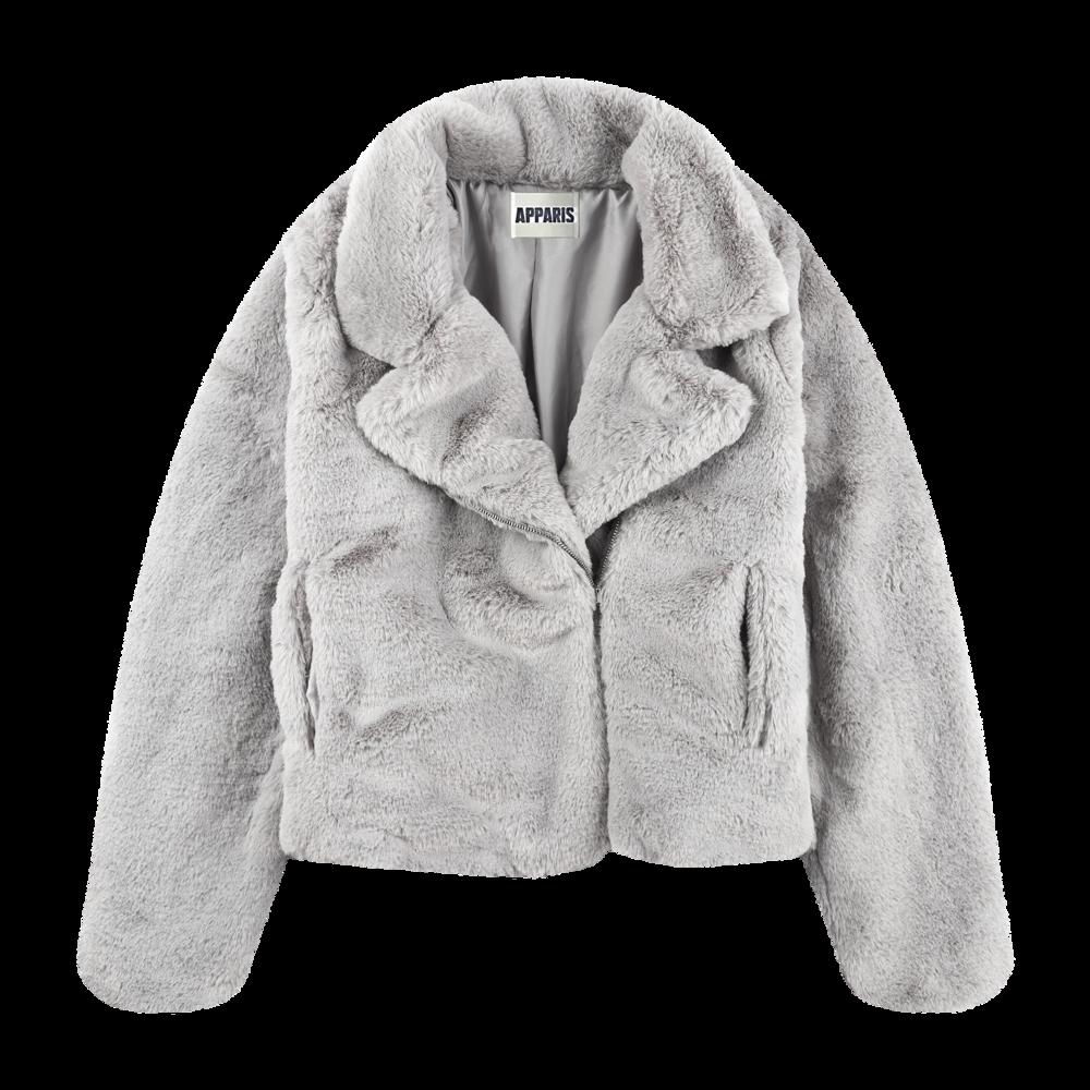 7. apparis faux fur jacket -