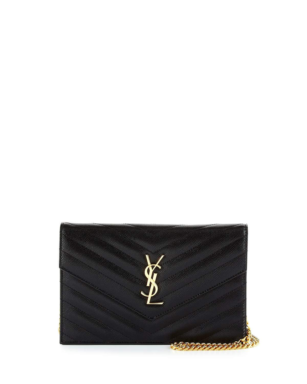The It Bag - Saint Laurent Small Monogram Leather Chain Wallet