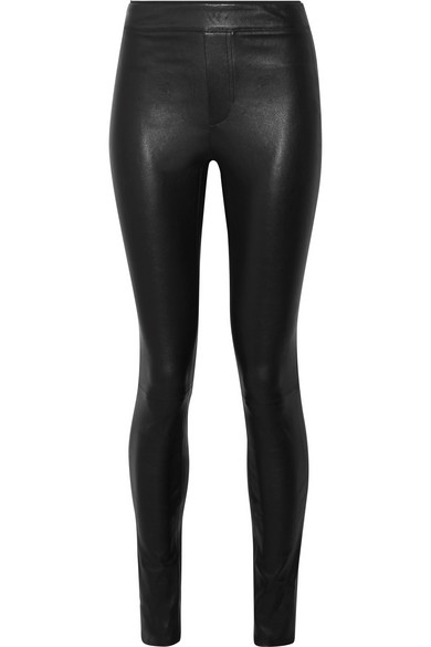 The Leather Pant - Helmut Lang Stretch Leather Leggings