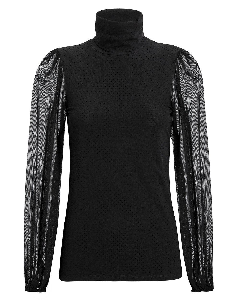 Ganni dot mesh turtleneck -