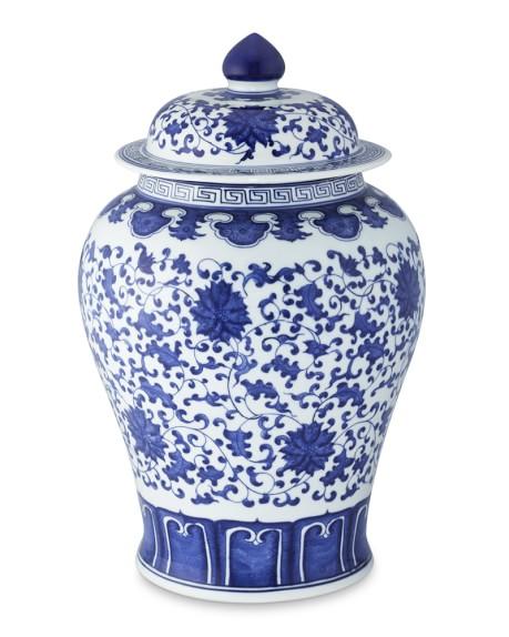 Blue & White Ginger Jar -