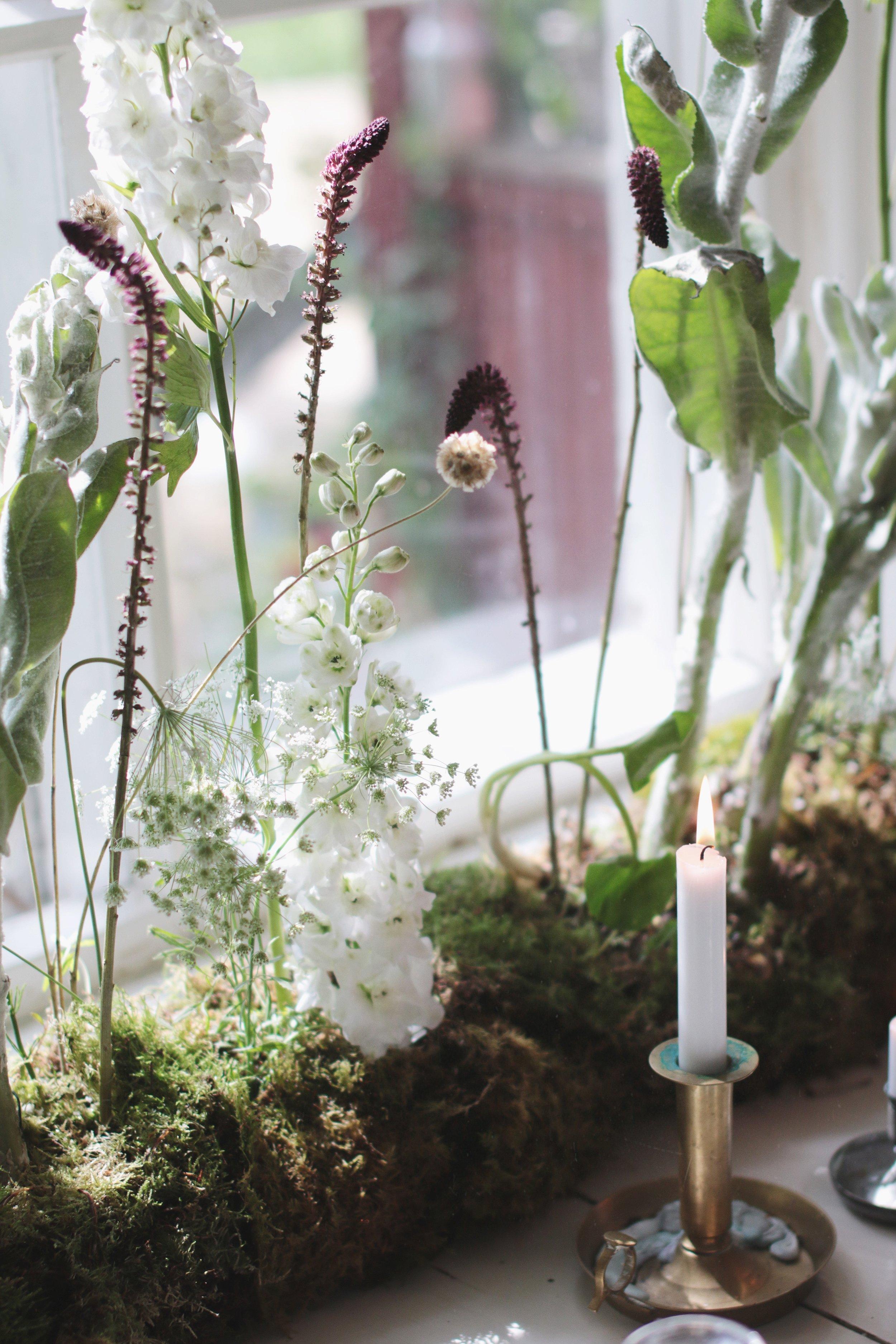 Boheemi kukka-asetelma kotiin