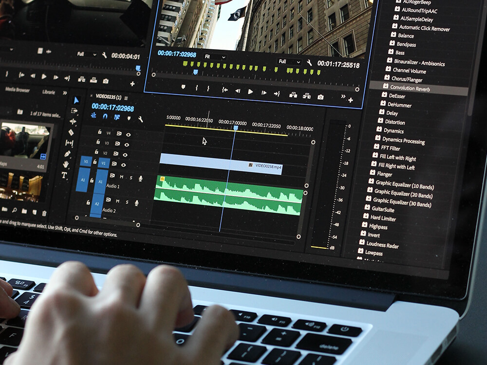 audio and video POST-PRODUCTION - Video editing and post-productionTV commercials and social mediaPodcast and audio/video interviewsInteractive videos and product filmsCorporate films and profiles