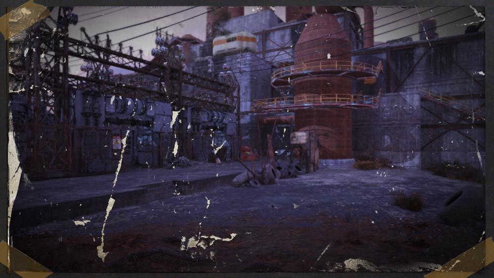 Monongah power plant yard -