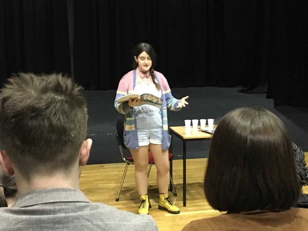 Amy Hartley read her published piece, 'Our Eternity', to a captivated audience.