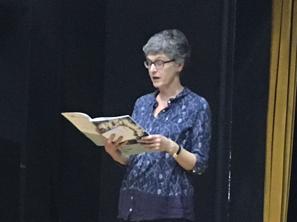 We welcomed Sarah Standage from Winchester to our launch evening to read her published poem, 'Death Says'.