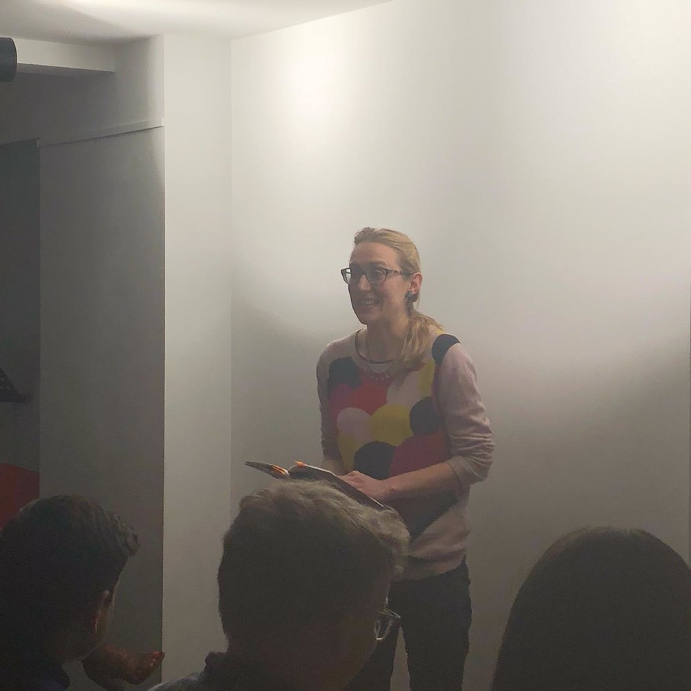 Phoebe also read from her own collection,  Shrines of Upper Austria!
