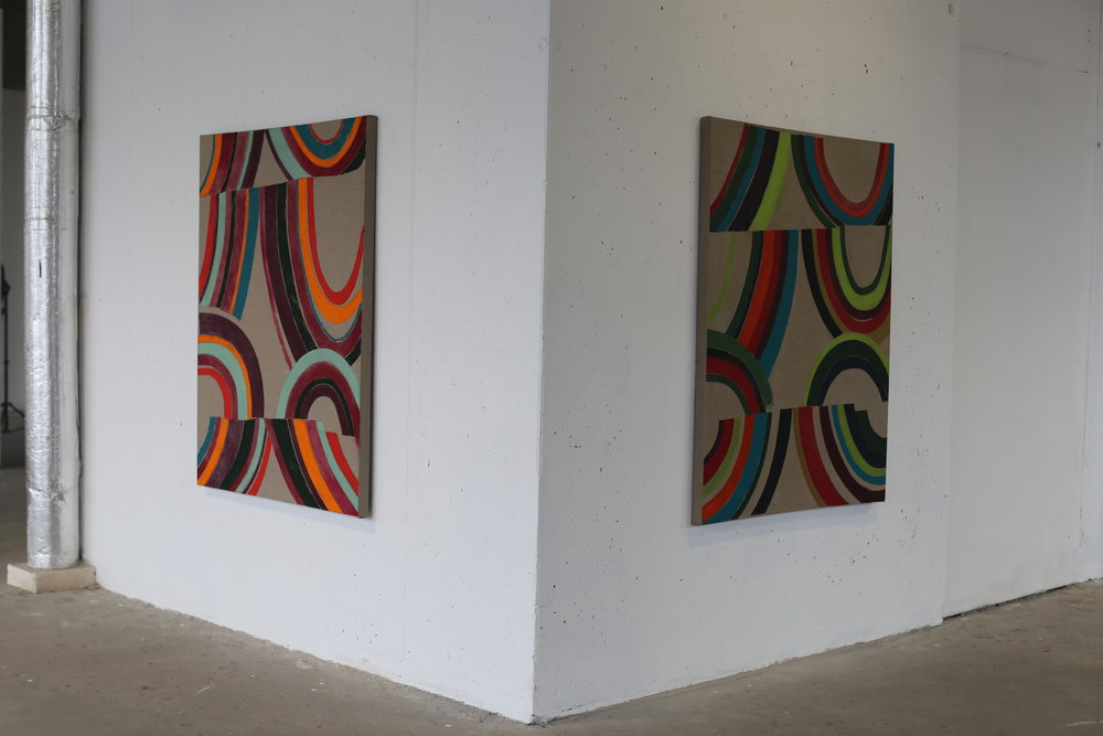 Dirty Light Exhibition, Green On Red Gallery, November 2018
