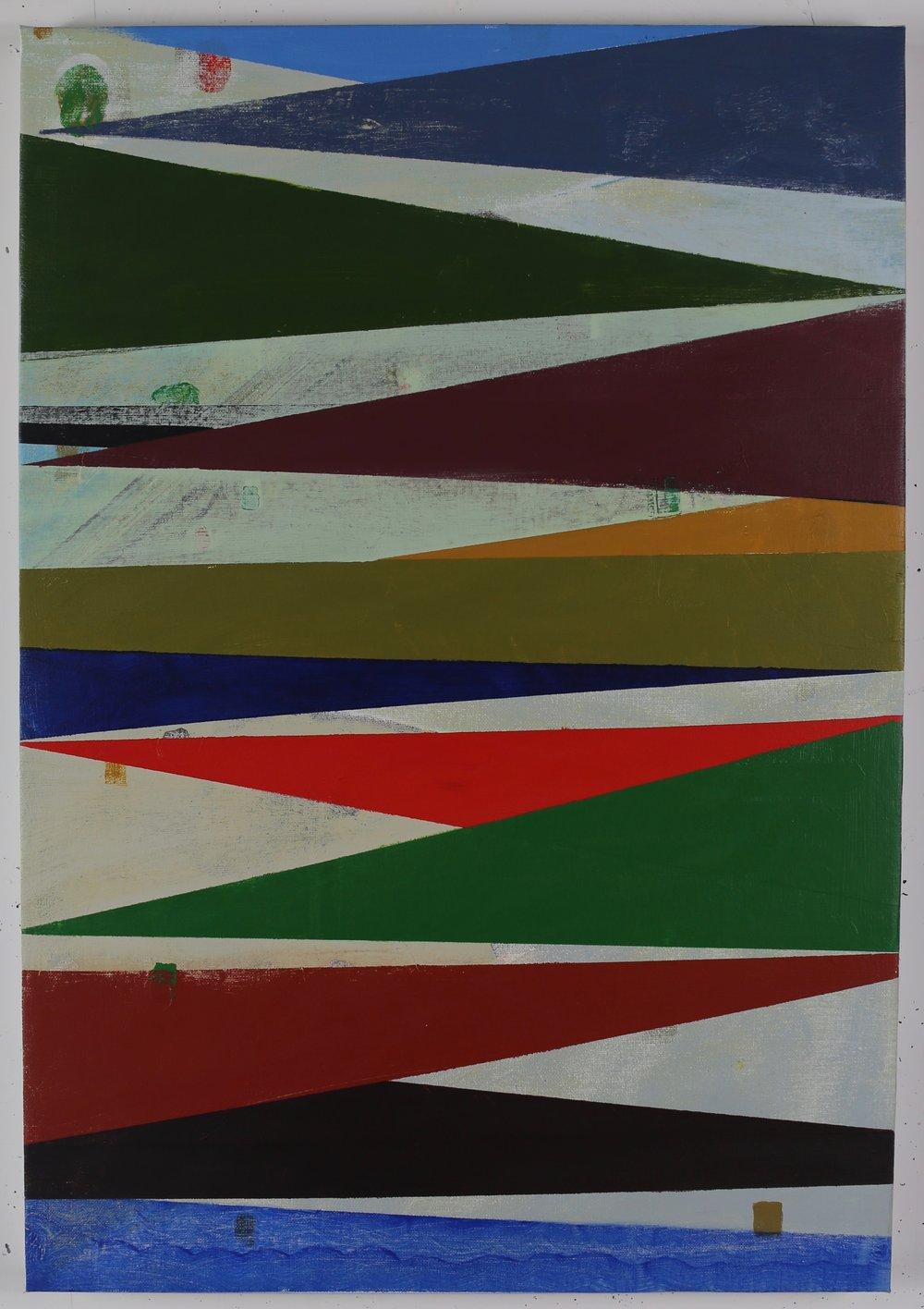 8-Bit Radiant, 2018, acrylic on canvas, 71 x 49 cm