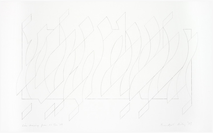 Line Drawing from 21st January 2009 (2009) Pencil on paper, 60.3 x 93.4cm