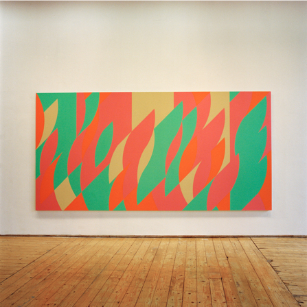 Green Painting (Painting with verticals cadence 5) (2006) Oil on linen, 194.4 x 388cm (Installation shot from Green On Red Gallery, May '07)