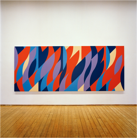 Blue Painting (Painting with verticals cadence 5) (2006) Oil on linen, 193.5 x 387.8cm (Installation shot from Green On Red Gallery, May '07)