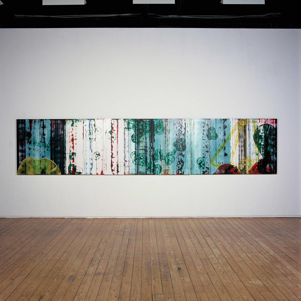 untitled - 2009 - oil on aluminium 4'x18'