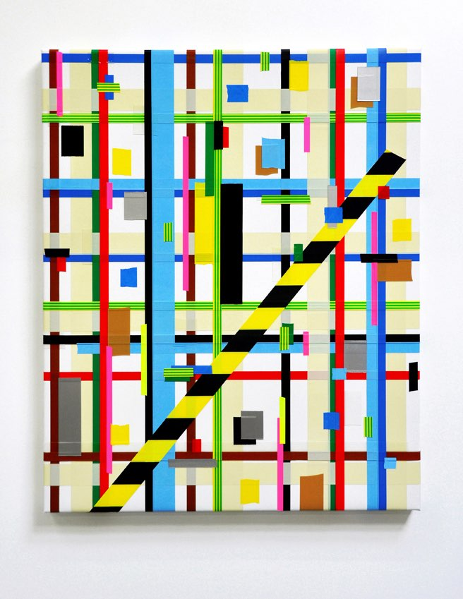 Crosstown, 2016, acrylic paint on canvas, 80 x 100cms
