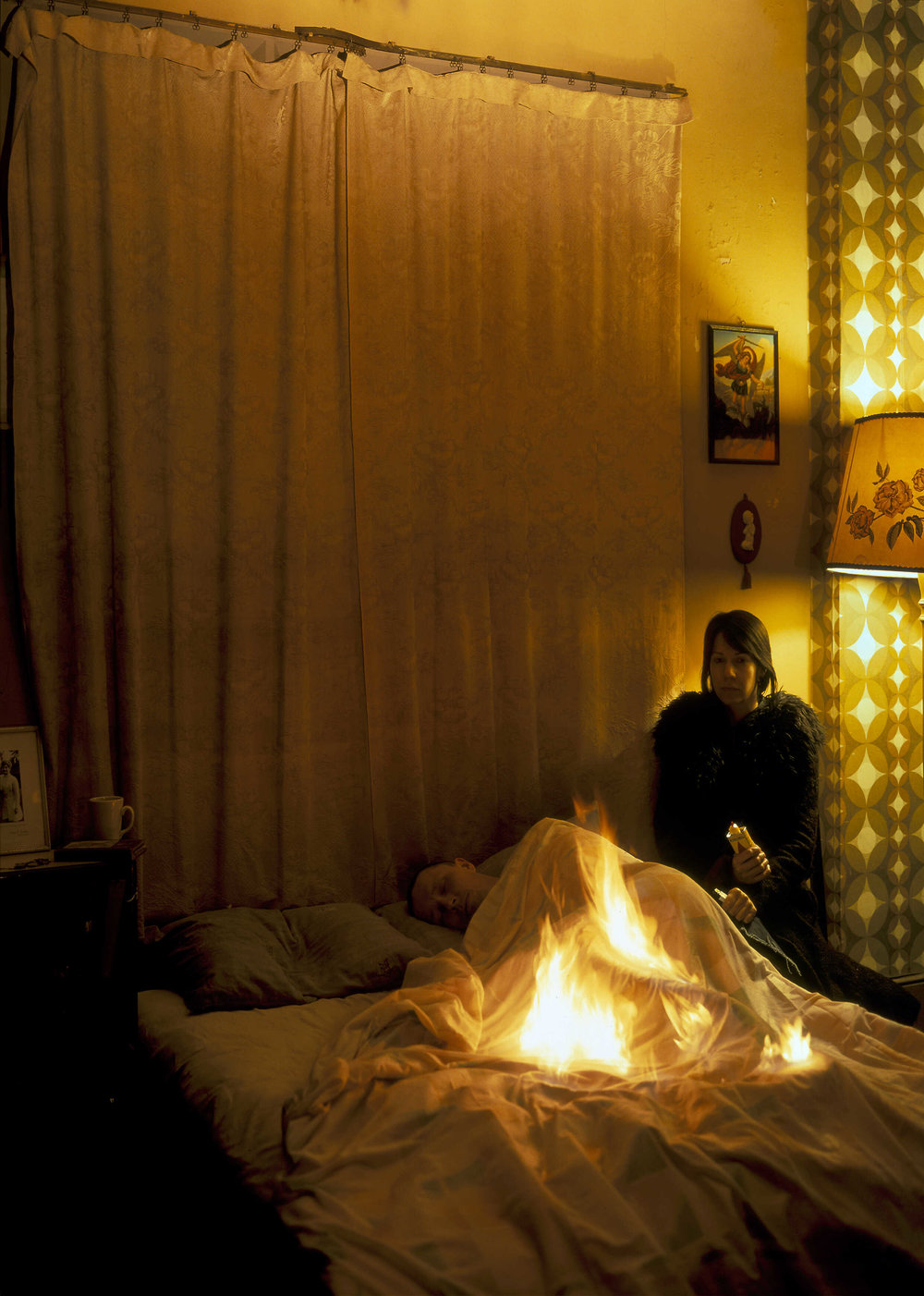 Lover Set on Fire in Bed (2003) Lambada print 152.4 x 121.9 cm